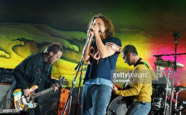 Pearl Jam Eddie Vedder Jeff Ament Matt Cameron Rock Werchter Festival Werchter Belgium