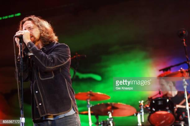 Pearl Jam Eddie Vedder Matt Cameron Rock Werchter Festival Werchter Belgium