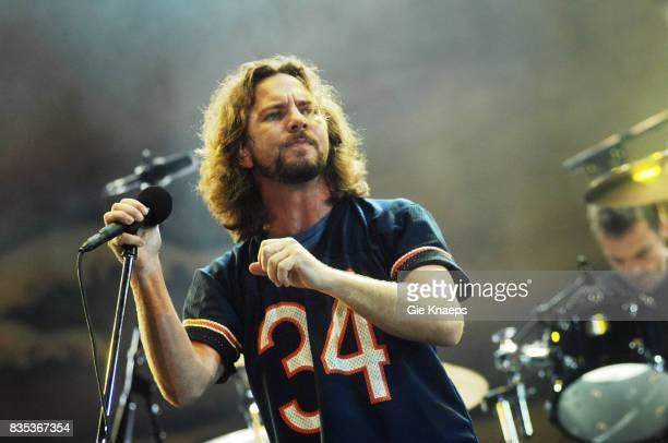 Pearl Jam, Eddie Vedder, Matt Cameron, Rock Werchter Festival, Werchter- Belgium, .