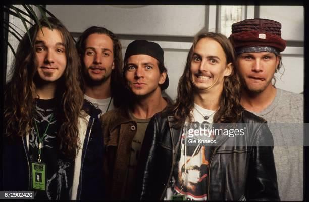 Pearl Jam, Eddie Vedder, Mike McCready, Jeff Ament, Stone Gossard, Dave Abbruzzese, Pinkpop Festival, Landgraaf, Holland, .