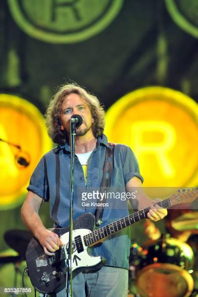 Pearl Jam Eddie Vedder Rock Werchter Festival Werchter Belgium
