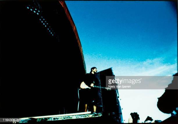 Pearl Jam performing on stage Roskilde Roskilde Denmark 26th June 1992