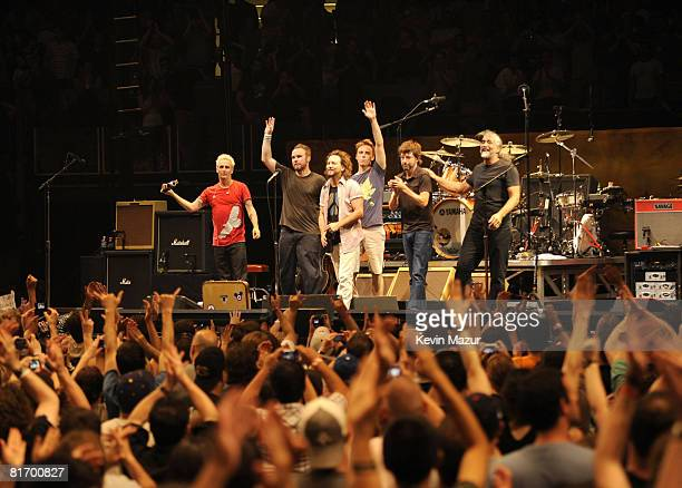 NEW YORK JUNE 24 *EXCLUSIVE* Pearl Jam performs at Madison Square Garden on June 24 2008 in New York City