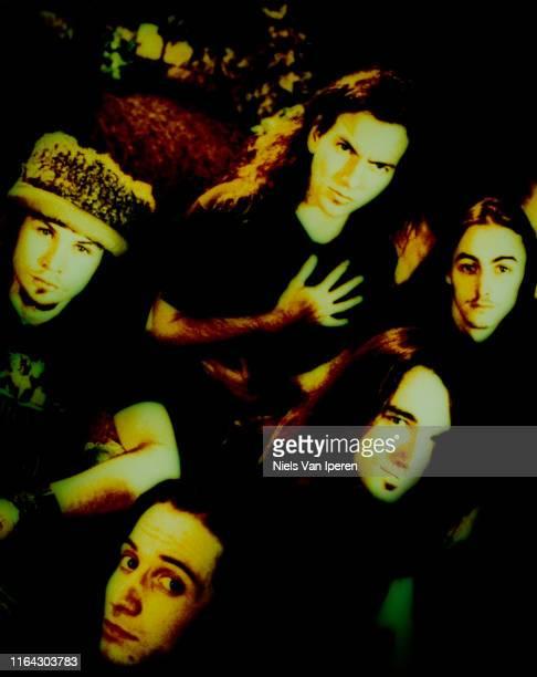 Pearl Jam, portrait, Pinkpop, Landgraaf, Netherlands, 6th August 1992.