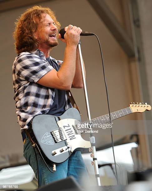 Pearl Jam's Jazz Fest Performance Broadcast LIVE to Military in Iraq Pearl Jam's Eddie Vedder performs at the 2010 New Orleans Jazz Heritage Festival...