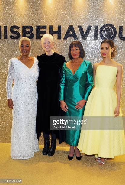Pearl Jansen Philippa Lowthorpe Jennifer Hosten and Gugu MbathaRaw attend the World Premiere of Misbehaviour at The Ham Yard Hotel on March 09 2020...