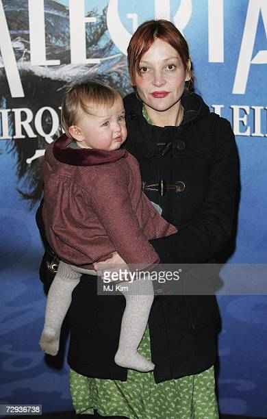 Pearl Lowe and her daughter arrive at the premiere for the new Cirque Du Soleil production Alegria at the Royal Albert Hall on January 5 2007 in...