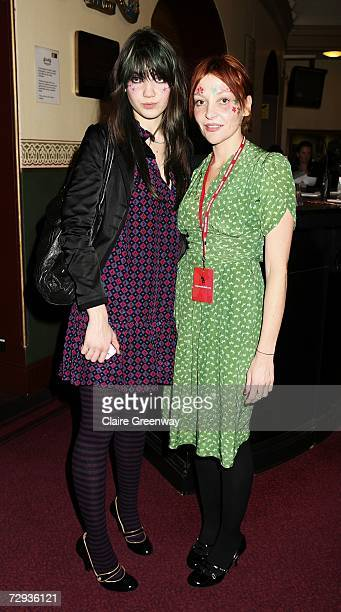 Pearl Lowe and her daughter Daisy arrive at the VIP performance of Cirque Du Soleil's 'Alegria' at Royal Albert Hall on January 5 2007 in London...