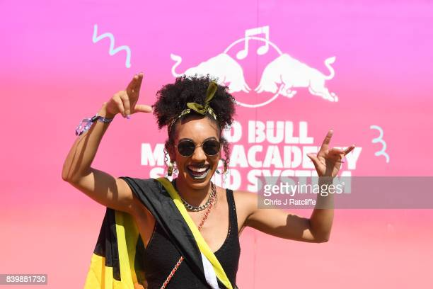 Pearl Mackie attends 'Red Bull Music Academy Soundsystem' at Notting Hill Carnival 2017 on August 27 2017 in London England
