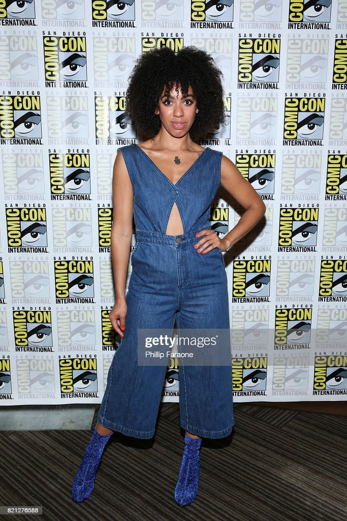 Pearl Mackie attends the Doctor Who press line at Comic-Con International 2017 on July 23, 2017 in San Diego, California.