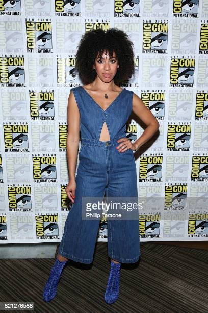 Pearl Mackie attends the Doctor Who press line at ComicCon International 2017 on July 23 2017 in San Diego California