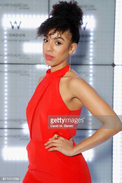 Pearl Mackie attends the official launch of The Perception at The W Hotel on November 7 2017 in London England