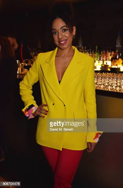 Pearl Mackie attends the press night after party for 'The Birthday Party' at Mint Leaf on January 18 2018 in London England