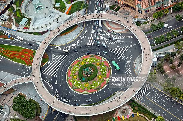 Pearl Ring Beautiful Roundabout in Shanghai China