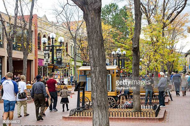 Pearl Street Mall in Downtown Boulder, Colorado