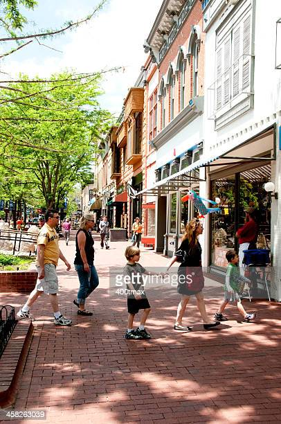 pearl street mall - boulder county stock pictures, royalty-free photos & images