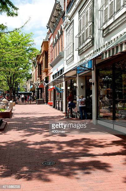 pearl street mall - boulder colorado stock photos and pictures