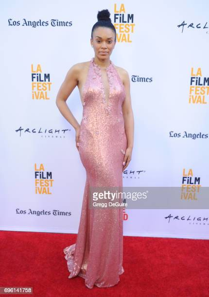 Pearl Thusi arrives at the 2017 Los Angeles Film Festival Opening Night Premiere Of Focus Features' 'The Book Of Henry' at Arclight Cinemas Culver...