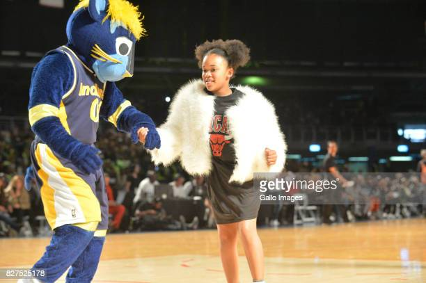 Pearl Thusi daughter Thandolwethu Mokoena during the NBA Africa Game 2017 at Ticketpro Dome on August 05 2017 in Johannesburg South Africa