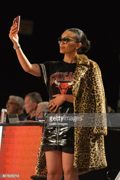 Pearl Thusi during the NBA Africa Game 2017 at Ticketpro Dome on August 05 2017 in Johannesburg South Africa