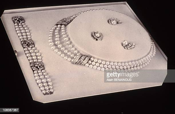 Pearls diamonds finery given by Rainier to Grace in Paris France on June 14 1992