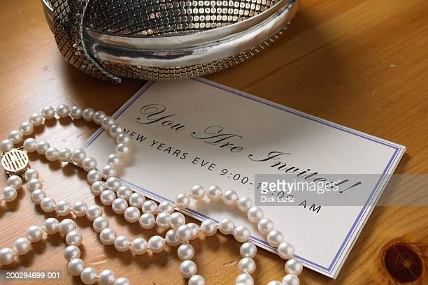 pearls invitation jewelry