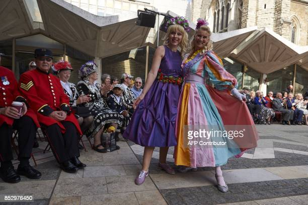 Pearly Kings and Queens and Chelsea pensioners gather for a Harvest Festival service at the Guildhall in the City of London on September 24 2017...