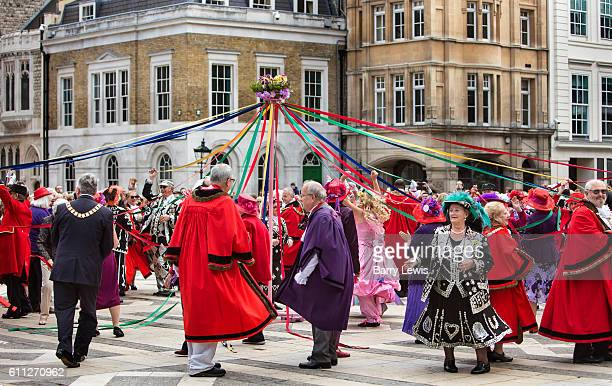 Pearly Kings and Queens are joined by Chelsea pensioners and the mayors of London's boroughs for the Harvest Festival celebrations at Guildhall Yard...