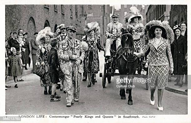 Pearly Kings and Queens in Southwark London The Pearly Kings and Queens is a working class organisation which raises money for charity and used to be...