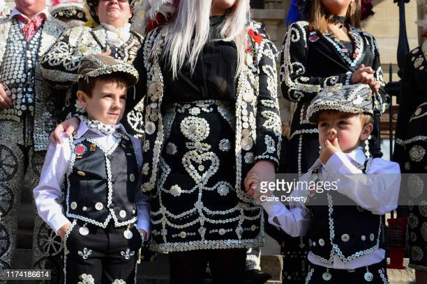 Pearly princes at St MartinintheFields church for their annual Harvest Festival on 6th October 2019 in London United Kingdom The tradition of the...