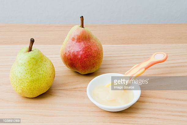 Pears and baby food puree