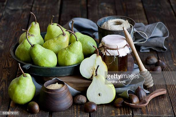 Pears and jam