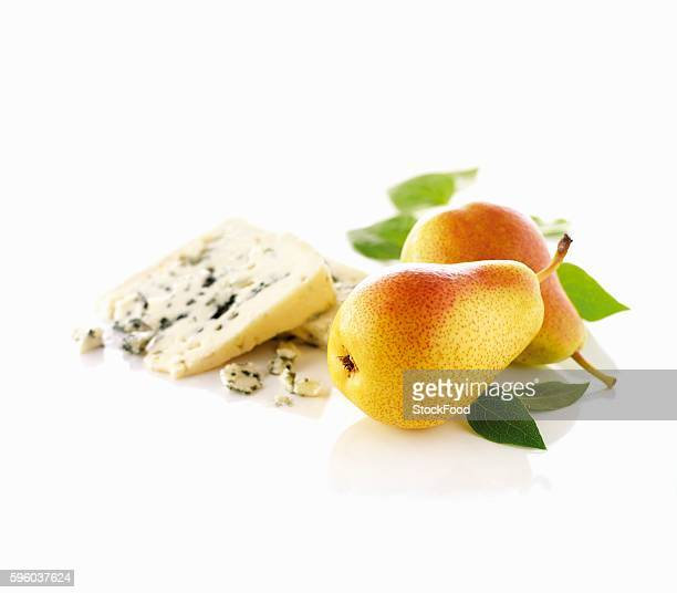 pears and roquefort - roquefort cheese stock photos and pictures