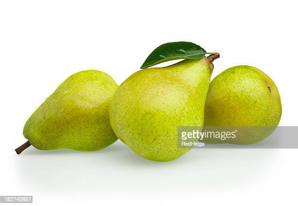 Pears green with Leaf