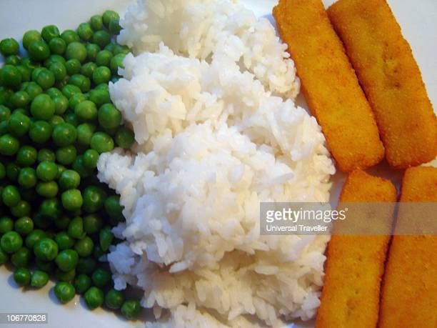 Peas, Rice and Fish Fingers