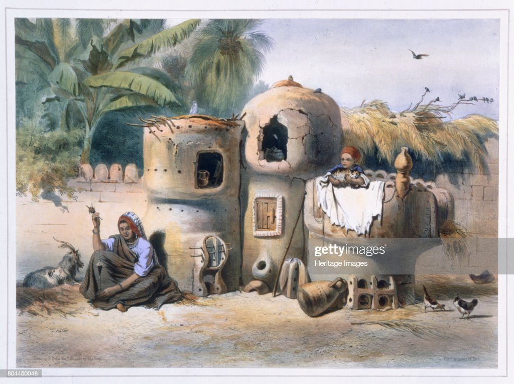 Peasant Dwellings In Upper Egypt 1848 : News Photo
