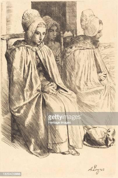 Peasant Women of Boulogne . Artist Alphonse Legros.