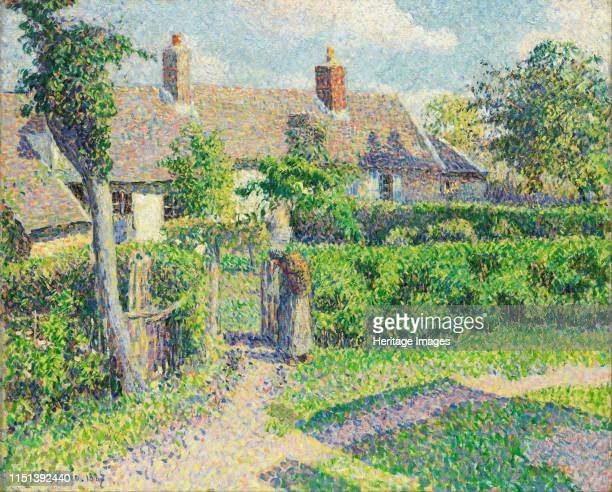 Peasants' houses Eragny 1887 Found in the collection of the Art Gallery of New South Wales Artist Pissarro Camille