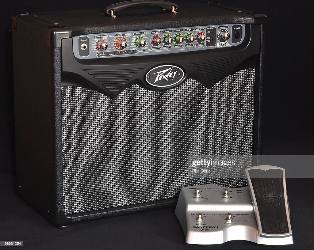 Peavey digital modelling guitar amplifier with foot pedal controller, pictured on 9th March 2010 in United Kingdom.