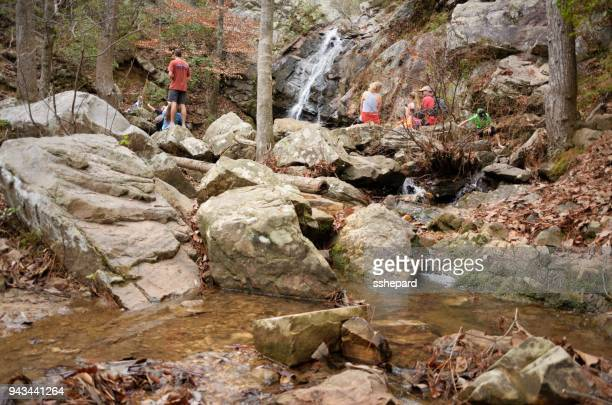 peavine falls in oak mountain state park - pelham alabama stock pictures, royalty-free photos & images