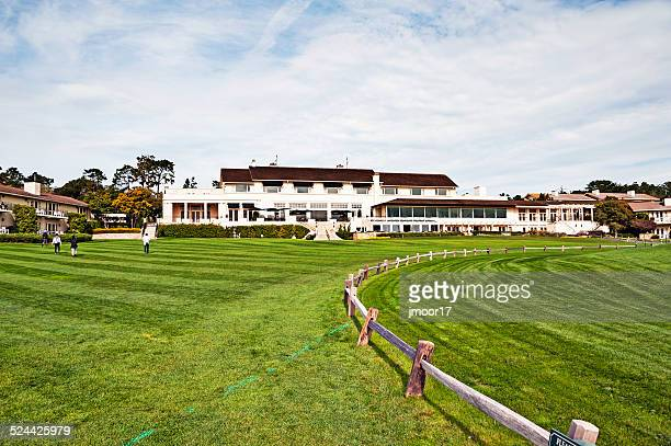pebble beach golf course and lodge - pebble beach california stock pictures, royalty-free photos & images