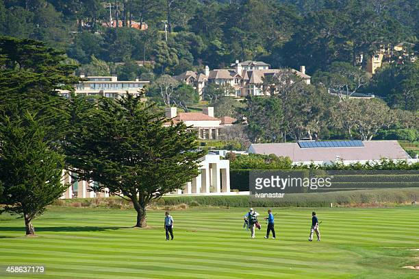pebble beach golf course - pebble beach california stock pictures, royalty-free photos & images