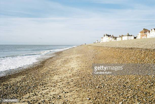 pebble beach - aldeburgh stock photos and pictures