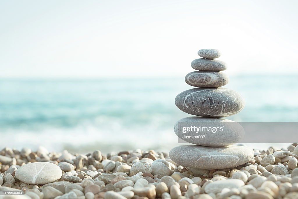 Pebble on beach : Stock Photo