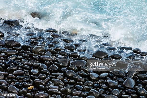 Pebble rimmed beach