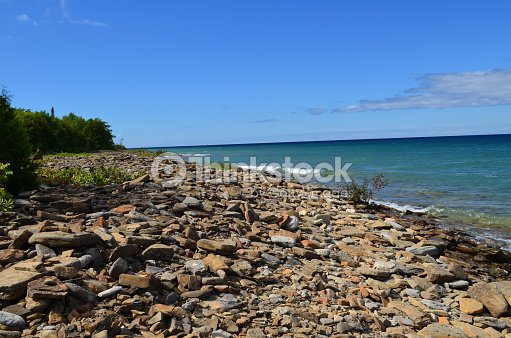 Pebble Stone Beach Stock Photo