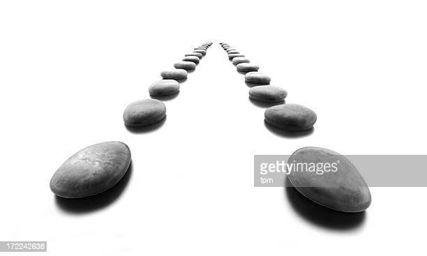 Pebble Stones in Rows