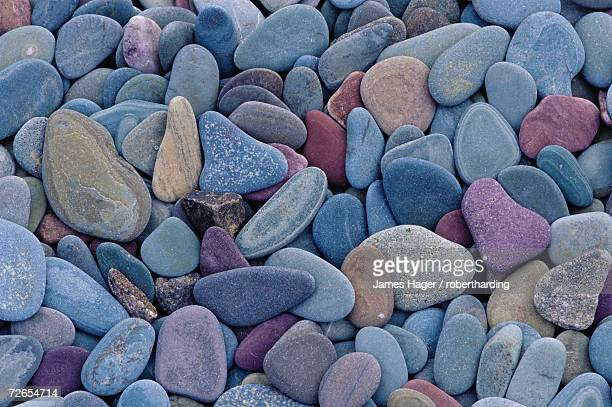 pebbles at st. mary lake, glacier national park, montana, united states of america, north america - mary lake stock photos and pictures