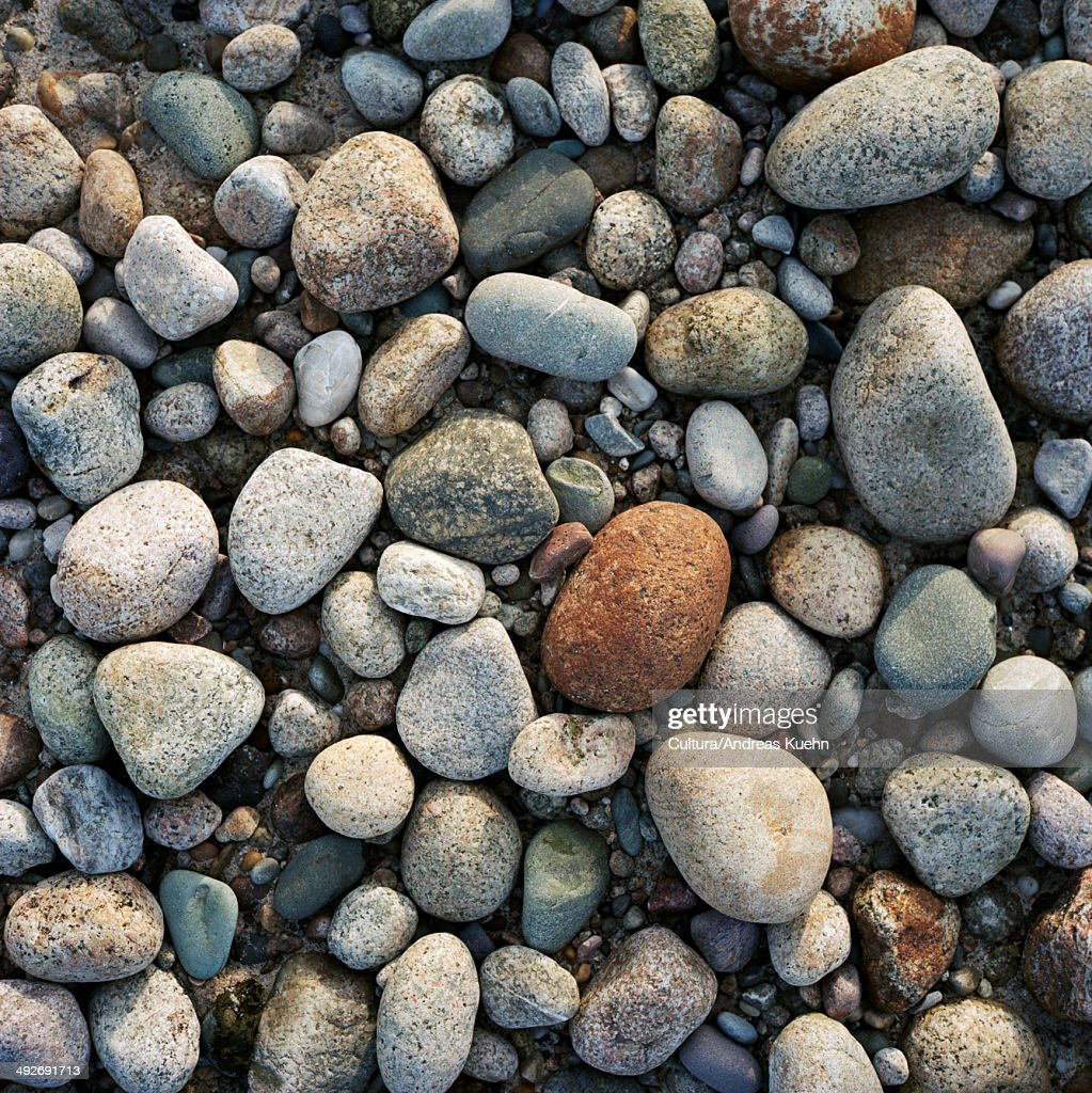 Pebbles, full frame : Stock Photo