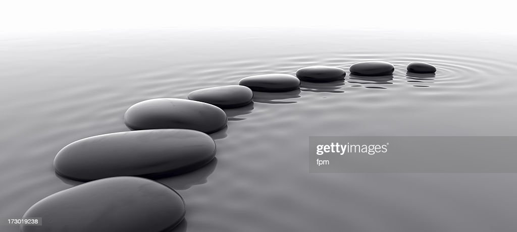 Pebbles in Water I : Stock Photo